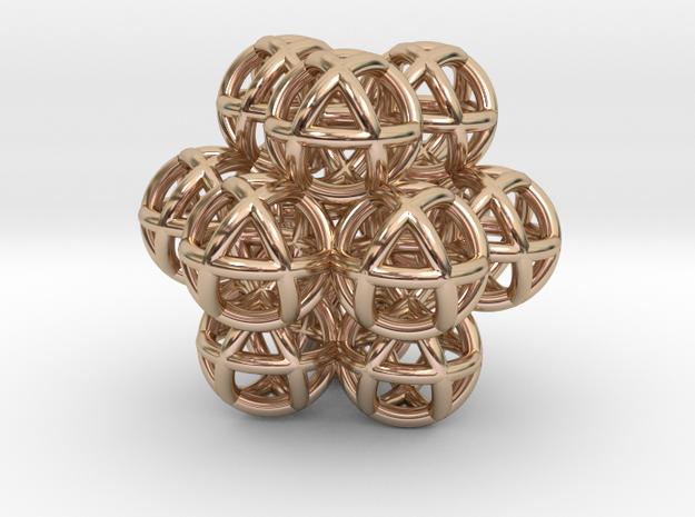 12 Vector Equilibrium Spheres Fractal Sacred Geome