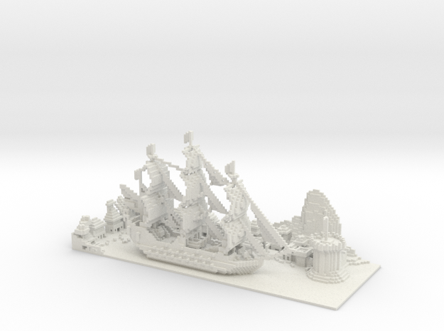 Pirate Bay in White Natural Versatile Plastic