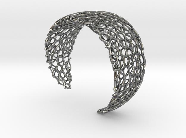 Voronoi Cuff Bracelet - Medium sized cells