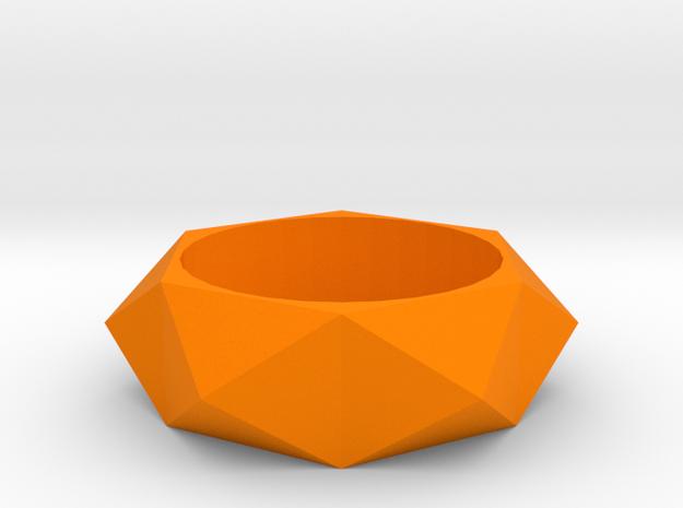 Beveled Sun Ring in Orange Strong & Flexible Polished