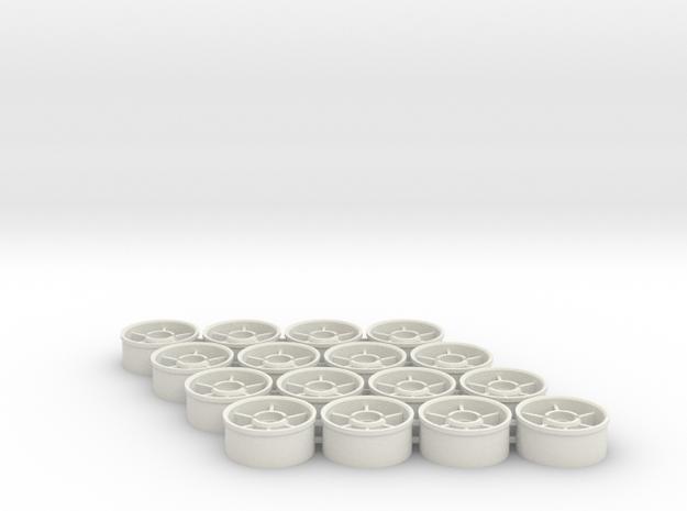 Front wheelset 19.5mm, -0.5mm, 8pr in White Natural Versatile Plastic