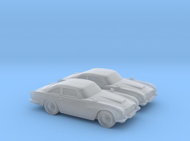 1/120 2X Aston Martin DB5 in Smooth Fine Detail Plastic