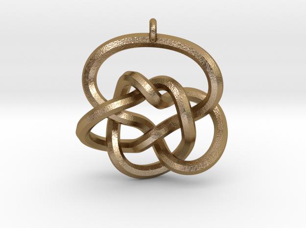 Knot Pendant (Earrings) in Polished Gold Steel