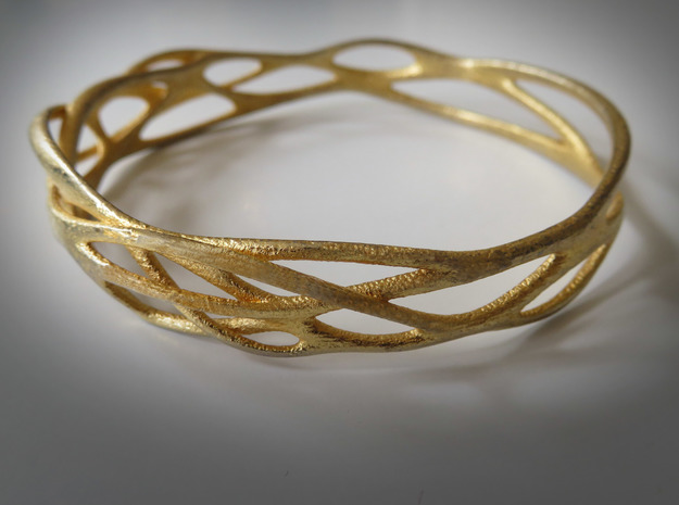 Incredible Minimalist Bracelet #coolest (S or M/L) in Polished Gold Steel: Large
