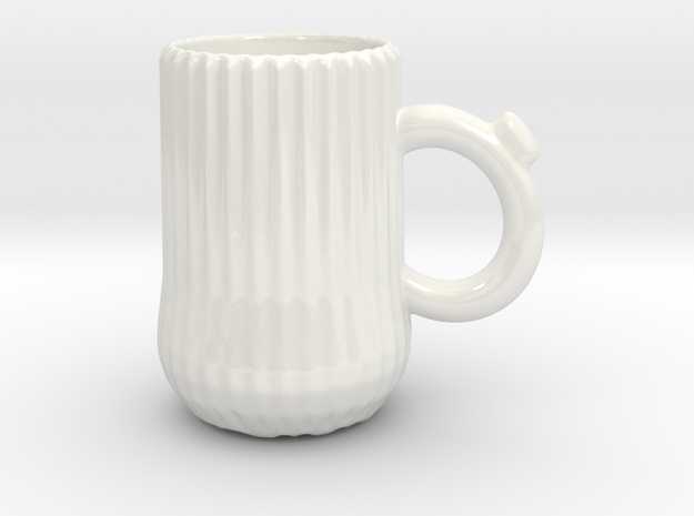 Ridge mug in Gloss White Porcelain