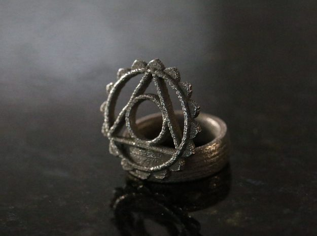 5th Chakra Ring in Stainless Steel