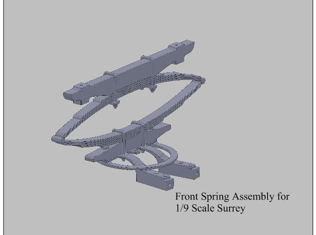 9th Scale Surrey Front Spring