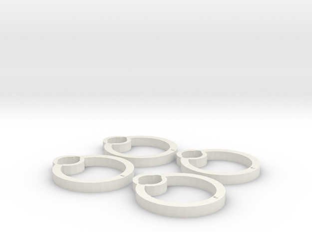 Blades protectors for Cheerson CX-10C in White Natural Versatile Plastic