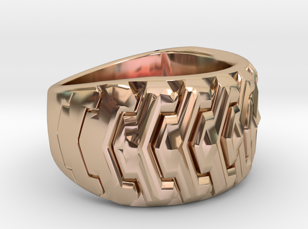 Combine  Ring Size 10 in 14k Rose Gold Plated Brass