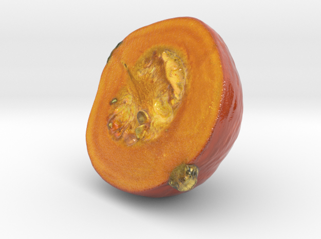 The Pumpkin-2-Half-mini in Glossy Full Color Sandstone
