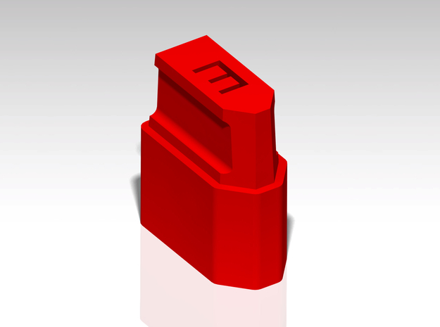 XT60 Safety Cap - 'E' for Empty - Stackable in Red Processed Versatile Plastic