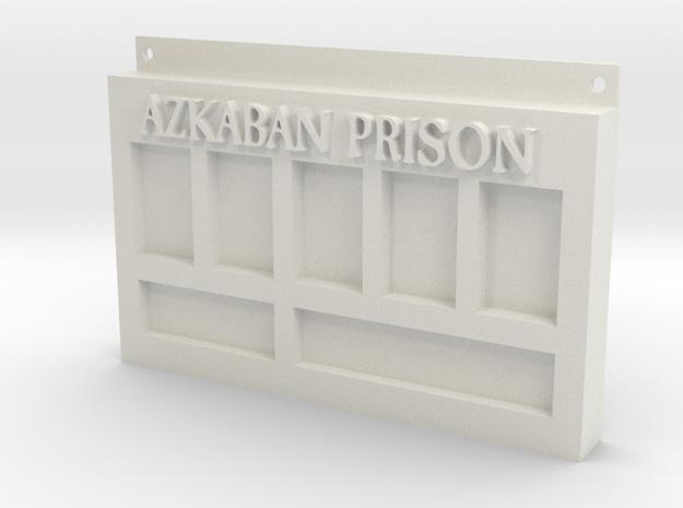 Azkaban Prison Sign in White Strong & Flexible
