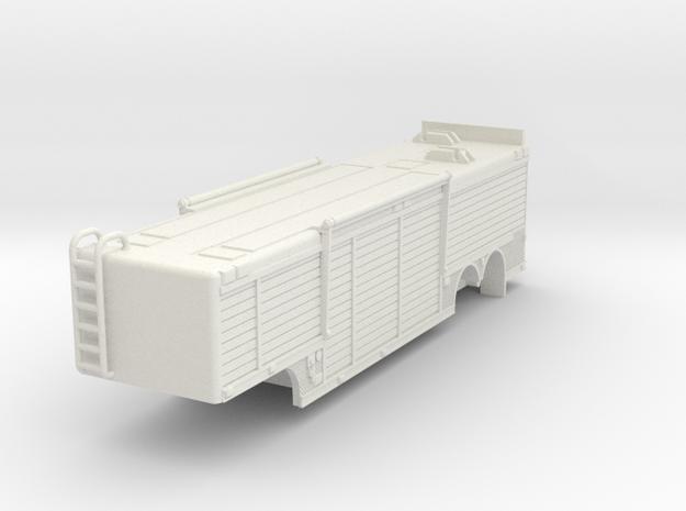 1/64 USAR or Hazmat Trailer in White Natural Versatile Plastic