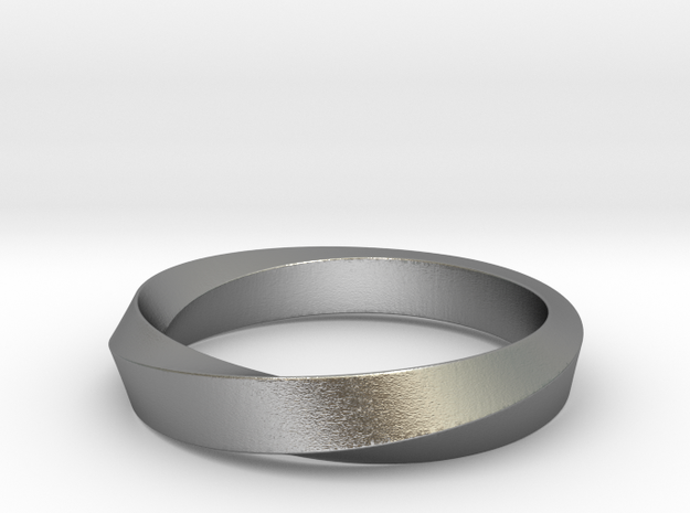 Mobius Narrow Ring (Size 6) in Raw Silver