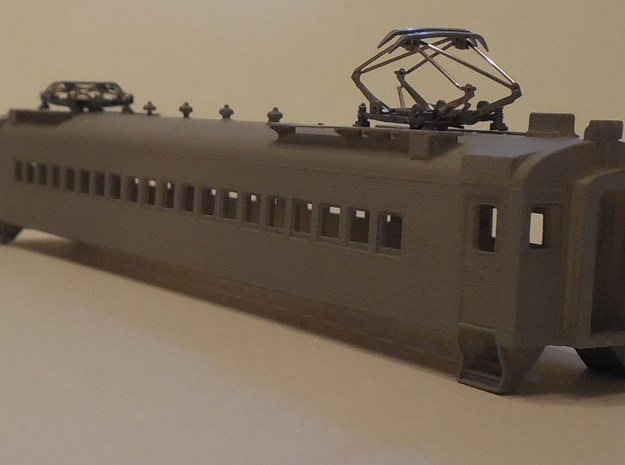 N Scale CN CCF MU Motor Car Body in Black Hi-Def Acrylate