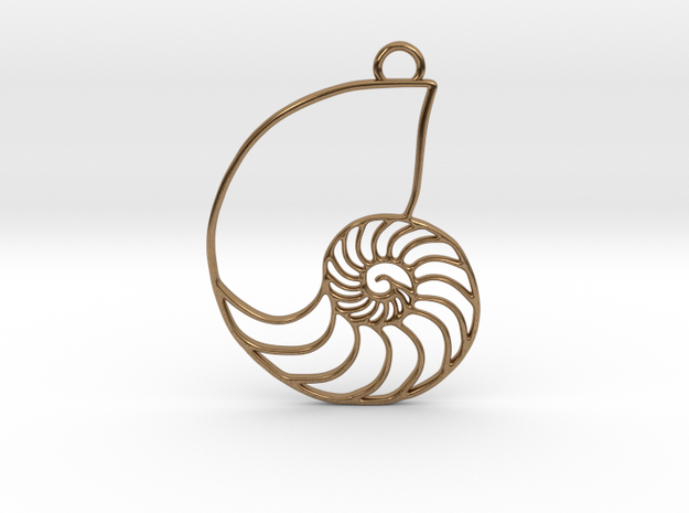 Nautilus Pendant in Natural Brass