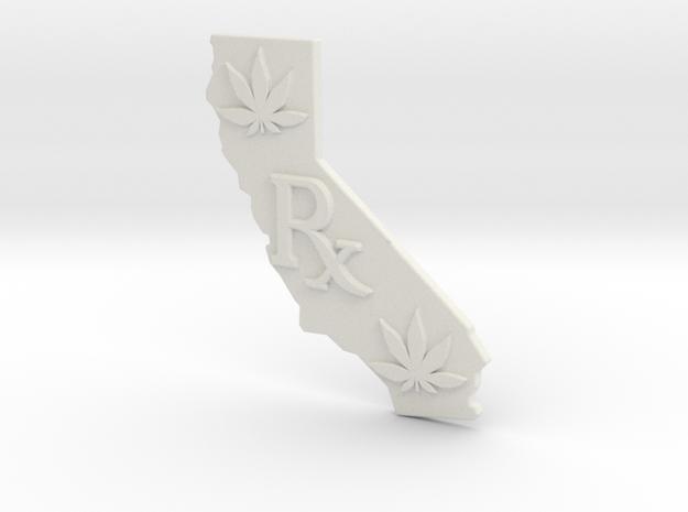 CALIFORNIA  Rx, Pot Leaves, Medical Marijuana, 420 in White Natural Versatile Plastic
