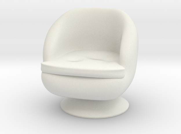 1/32 Girl sitting Chair Part of Chair 015 in White Natural Versatile Plastic