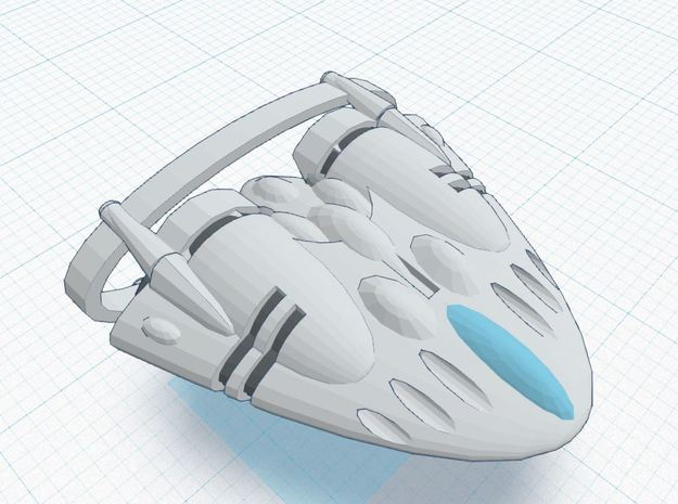 BR-2E Super Heavy (w/ increased def array) 3d printed Tier 3 Heavy Ship REGULATION XIA SPEC