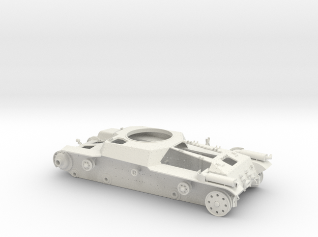 """1:16scale  TYPE97 TANK """"Chi-Ha"""" Hull only Ver1.0  in White Natural Versatile Plastic"""