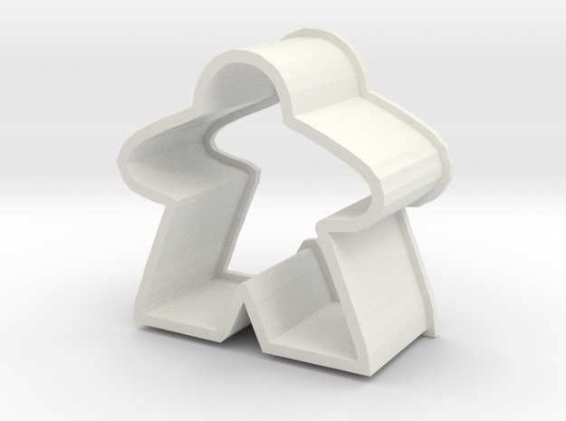 Meeple Chocolate Cutter Small almost meeple size in White Strong & Flexible