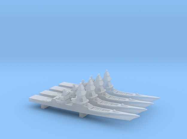 Project 23560E Shkval Destroyer x 4, 1/6000 in Smooth Fine Detail Plastic