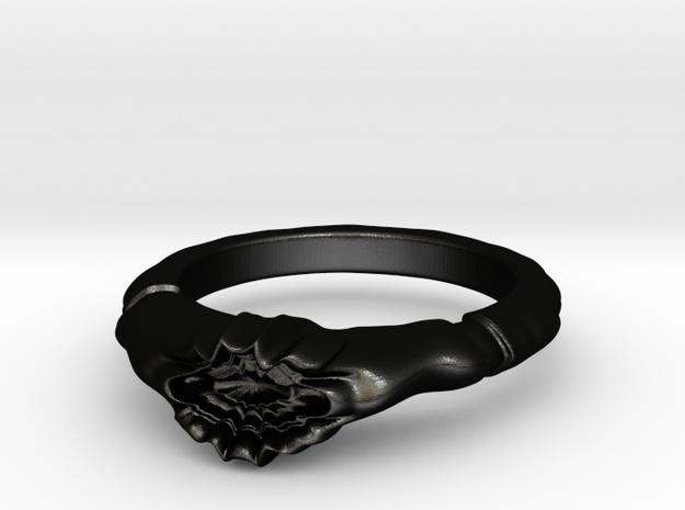 Eldritch Corruption Ring Size 10 in Matte Black Steel