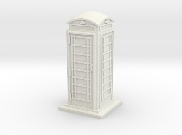 28/32mm Phone Box in White Natural Versatile Plastic