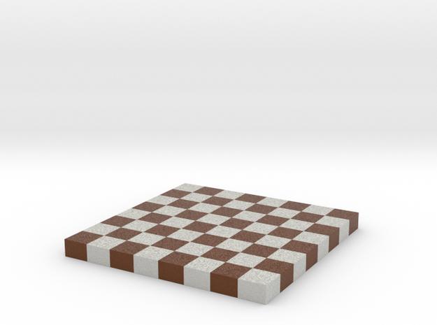 Chess Board 1/12 Scale No Frame in Full Color Sandstone