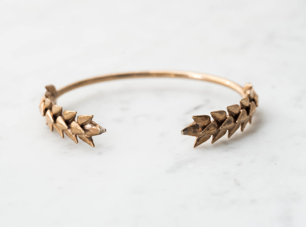 Wheat Bracelet in Polished Brass: Medium