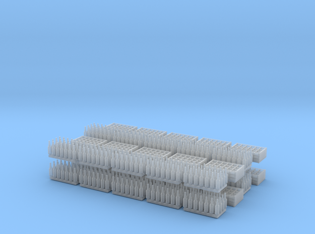 1:35 Bottles and Crates - 560 Bottles/20 crates in Smooth Fine Detail Plastic