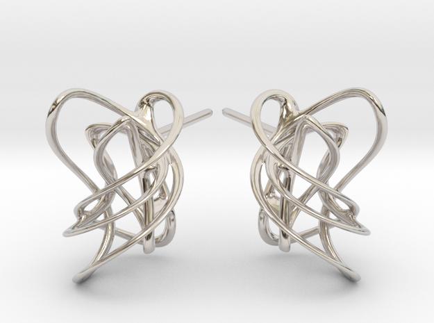 Valentine Bliss Ear top ER02032 in Rhodium Plated Brass