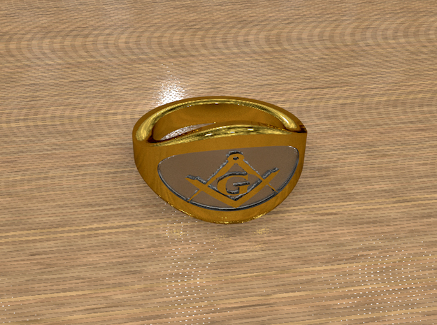 Illuminati Ring in Raw Brass