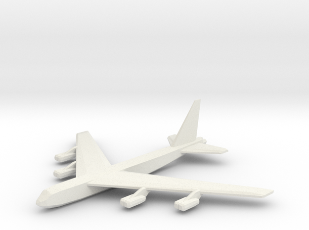 1/600 B-52D in White Natural Versatile Plastic