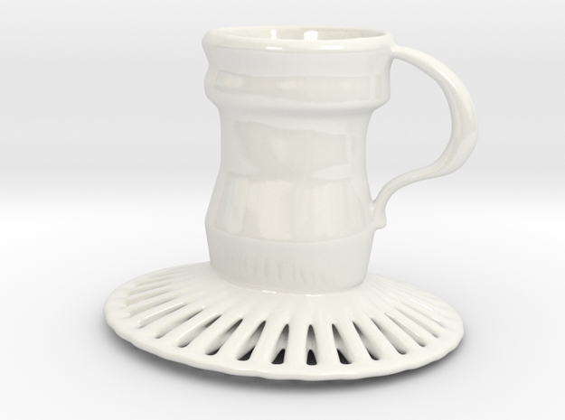 Torch mug in Gloss White Porcelain