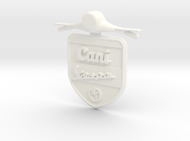 Emblem 3D Canivespa 5,5 cm in White Strong & Flexible Polished