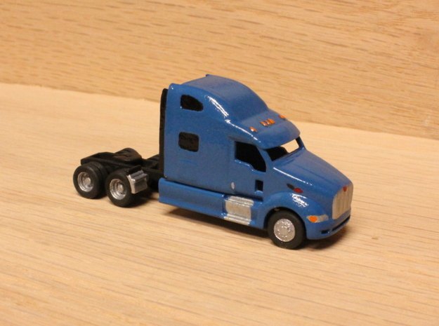 1:160 N Scale Peterbilt 387 Tractor in Smooth Fine Detail Plastic