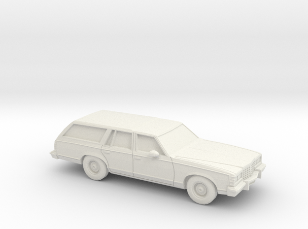 1/87 1977-78  Pontiac Grand Safari Station Wagon in White Natural Versatile Plastic