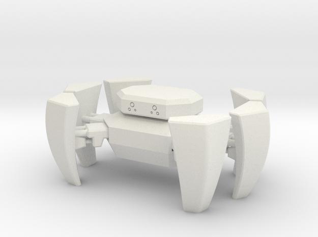 Little Robot in White Natural Versatile Plastic