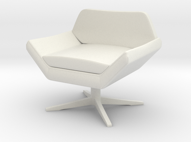 1:48 Sly Lounge Chair in White Natural Versatile Plastic
