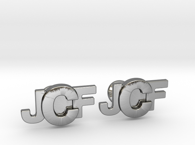 Monogram Cufflinks JFC in Polished Silver