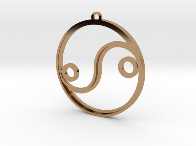 YinYang 35mm in Polished Brass