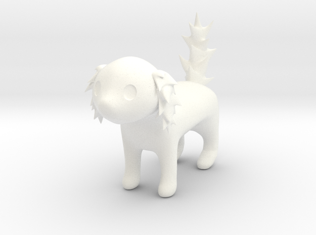 Luru1 (Hollow) - Ab'Creatures Collection in White Processed Versatile Plastic