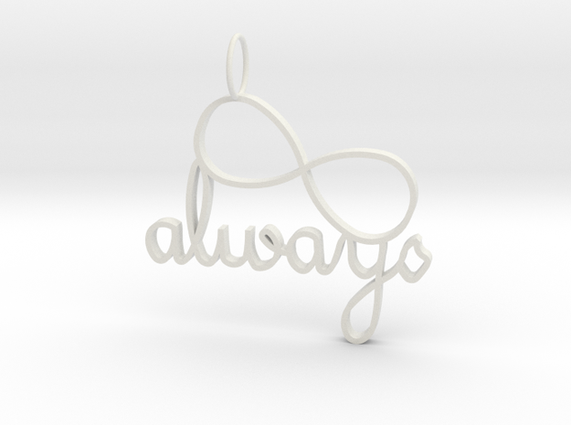 Always Infinity in White Natural Versatile Plastic