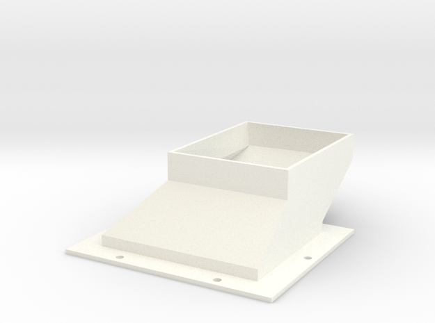 ShortDuctV5 in White Processed Versatile Plastic