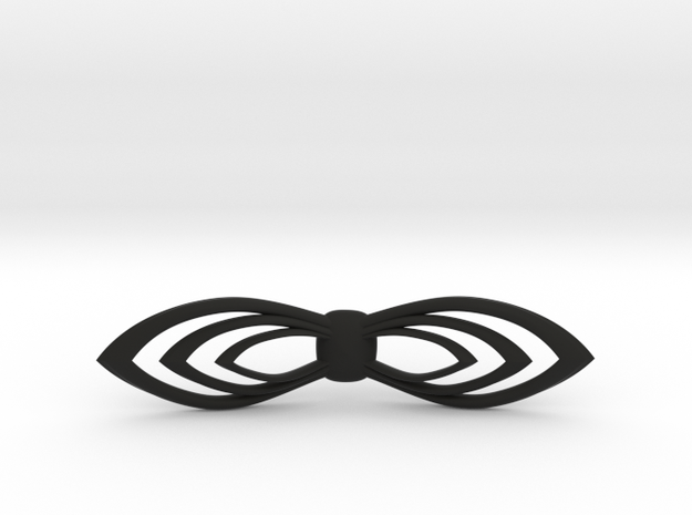 Bow tie/ ties in Black Natural Versatile Plastic