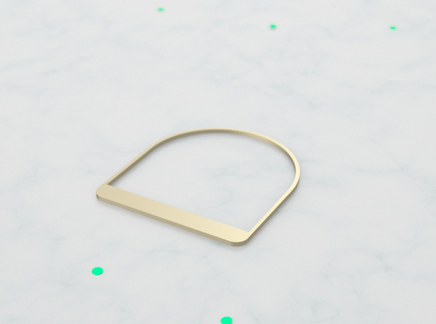 Trigonome Square in 14k Gold Plated Brass
