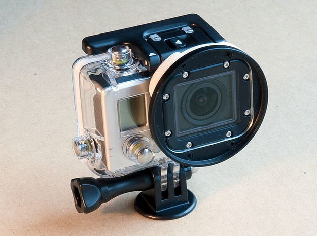 GoPro Hero3 filter adapter 3d printed
