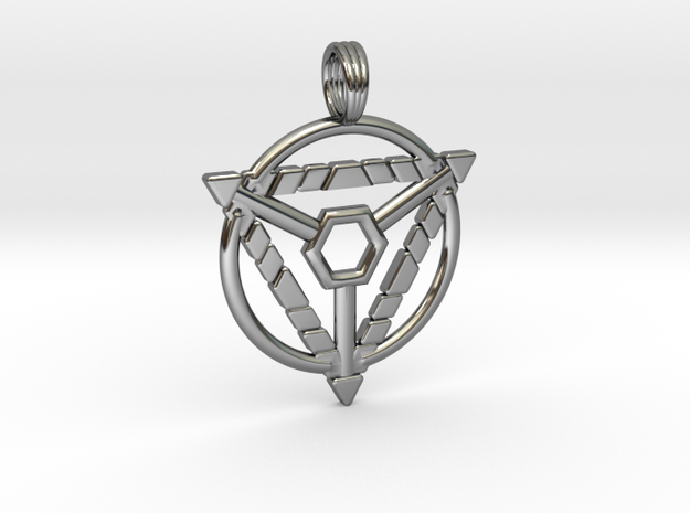 MYSTIC TRION in Fine Detail Polished Silver
