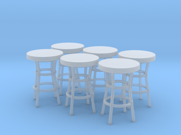 50's soda fountain bar table 01. HO Scale (1:87) in Frosted Ultra Detail